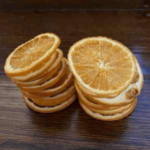 small dried orange slices