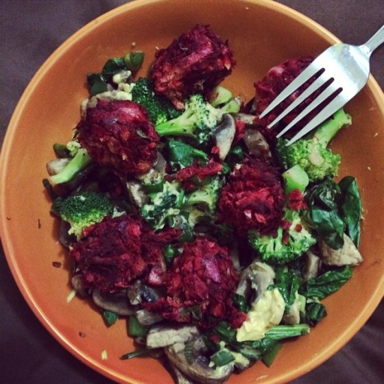 another beetroot bowl