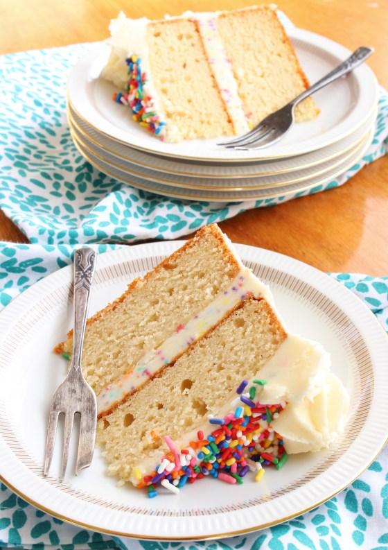 Vanilla Celebration Cake | Gluten Free | Thoroughly Nourished Life