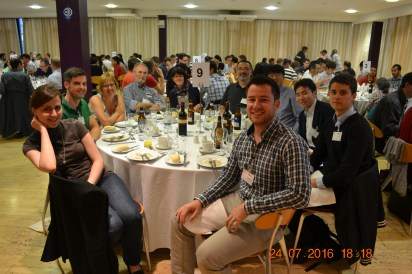 Oxana and fellow delegates at conference banquet