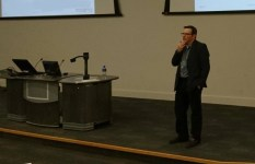 Orn answers questions from the audience