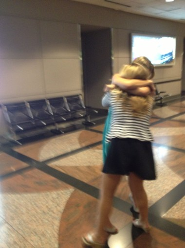 Quick reunion with my love at the airport