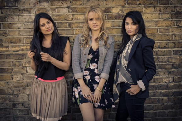 From left to right: Goldy, Laura Aikman & Karen David