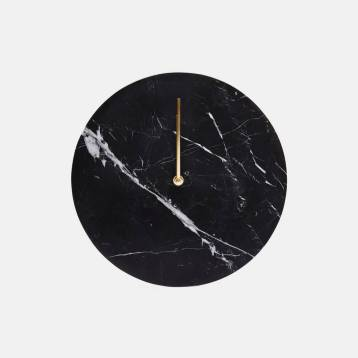 Black Marble Wall Clock $269