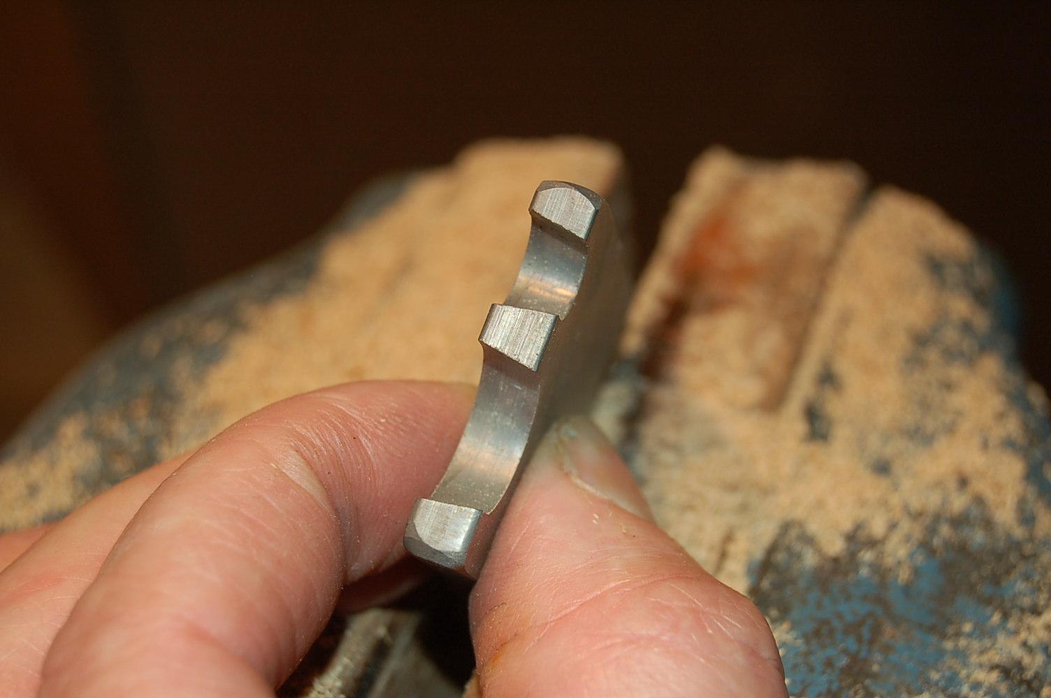 View of scraper cutting edges