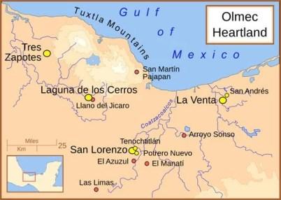 Olmecas-tres-zapotes-San-Lorenzo-Tenochtitlan