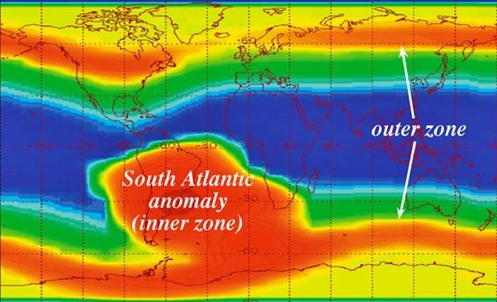 Anomalia Eletromagnética sobre o Brasil cresce e se intensifica