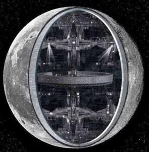 Nossa Lua é artificial e completamente oca, com várias bases extraterrestres e da própria humanidade, construídas em seu lado oculto.