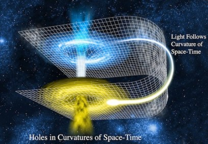 Light-WormHole-warp-drive-time-travel-tunnel
