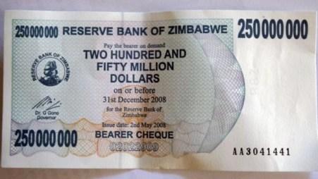 Hiperinflação-Zimbábue