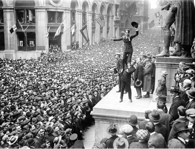 Charlie Chaplin Wall St. (New York Times, 1918)