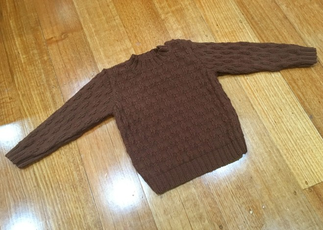 Finished 'Peter Pan' sweater