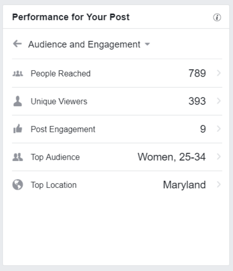 Facebook Audience Engagement