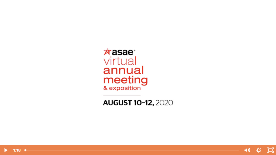 ASAE 2020 Virtual Event Videos Case Study