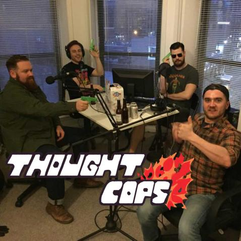 Thought Cops episode thumbnail with guests Alex Prevolos and Marty @extremelypeace