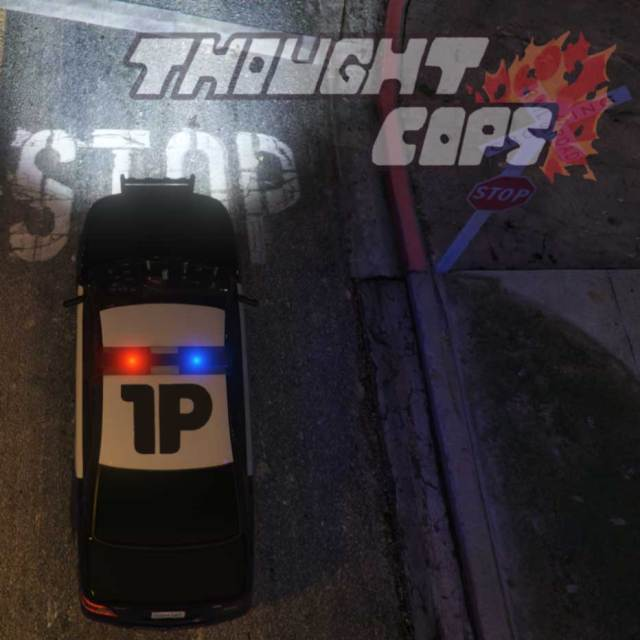Thought Cops Thumbnail featuring Lars and Joe of The First Podcast