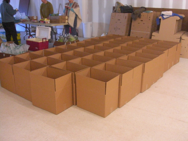 43 boxes - just under half of this week's deliveries
