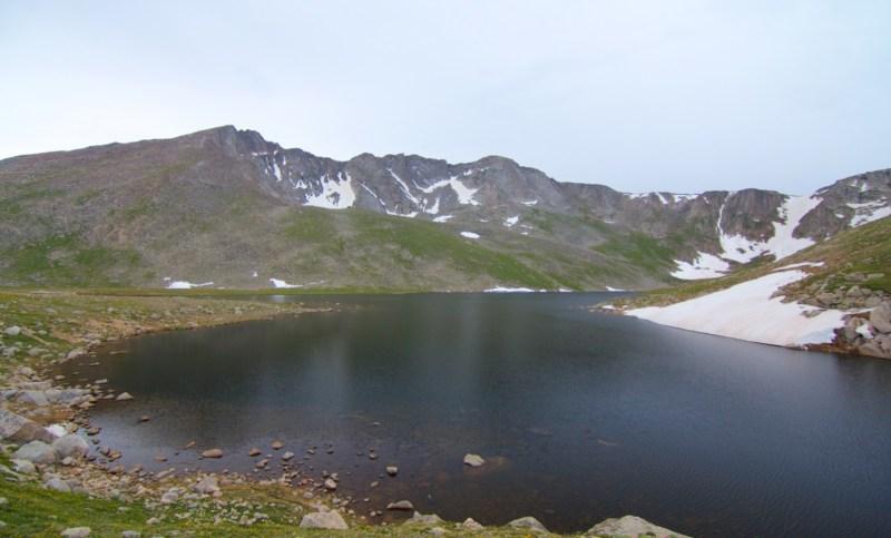 Mount Evans rising above Summit Lake