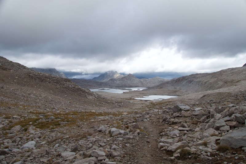 View from the top of Muir Pass