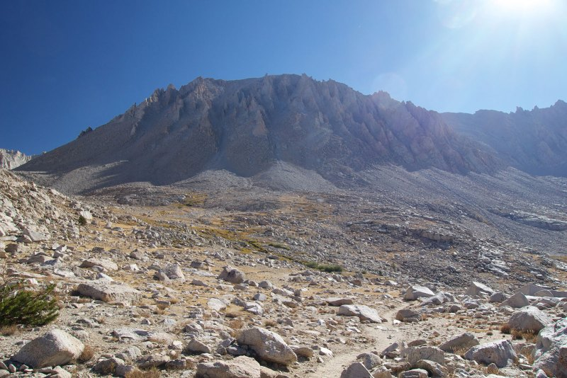 Looking up at Mt Whitney