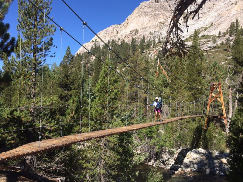Me crossing the Golden Gate of the Sierras