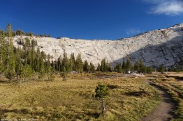 Hiking toward Lower Cathedral Lake