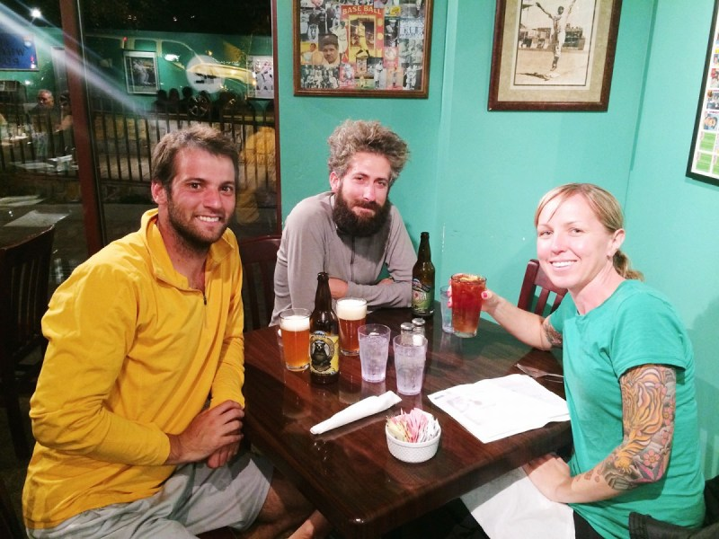 Civilized dinner with Friz and Patrick in Mammoth