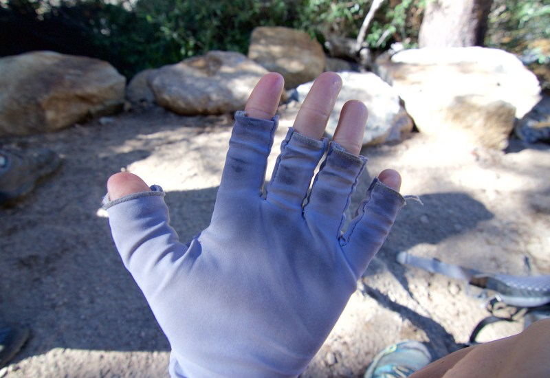 5 days of Sierra dirt on my sun gloves