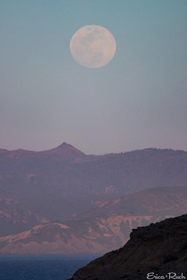 Full Moon over Santa Cruz Island