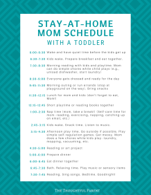 one year old schedule for stay at home mom