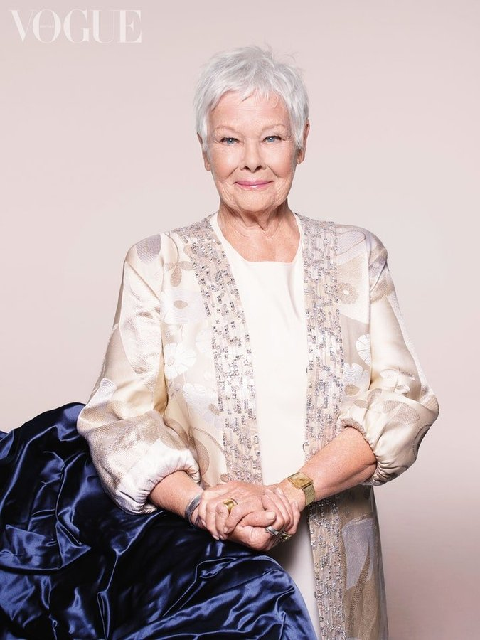 dame judi dench becomes vogue's oldest cover star in history aged 85