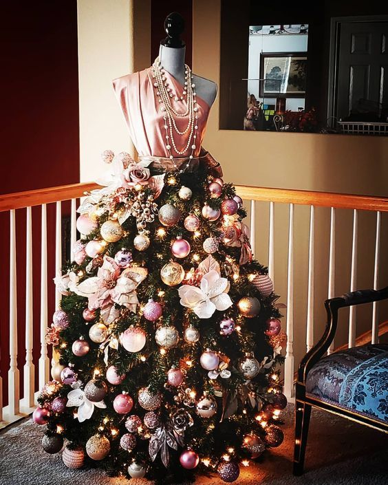 christmas trend: upcycling mannequins into stunning christmas ball gowns