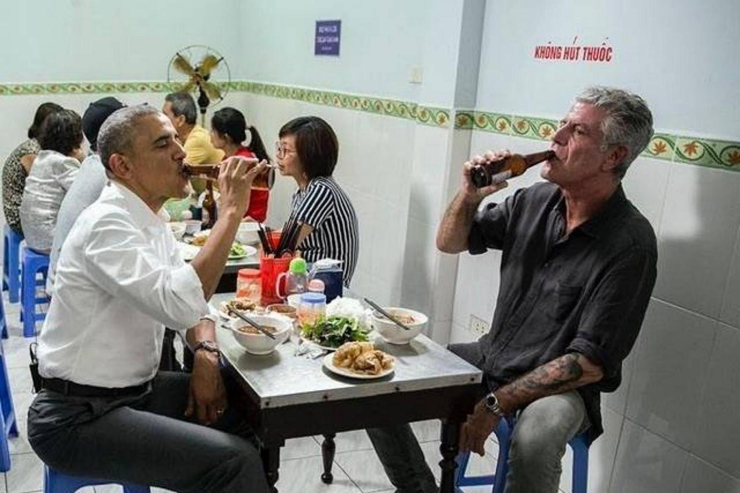 president obama and anthony bourdain ate a $6 meal in vietnam