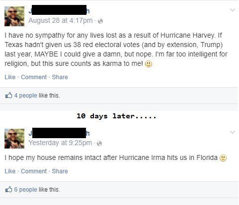 50 people who got served by karma instantly