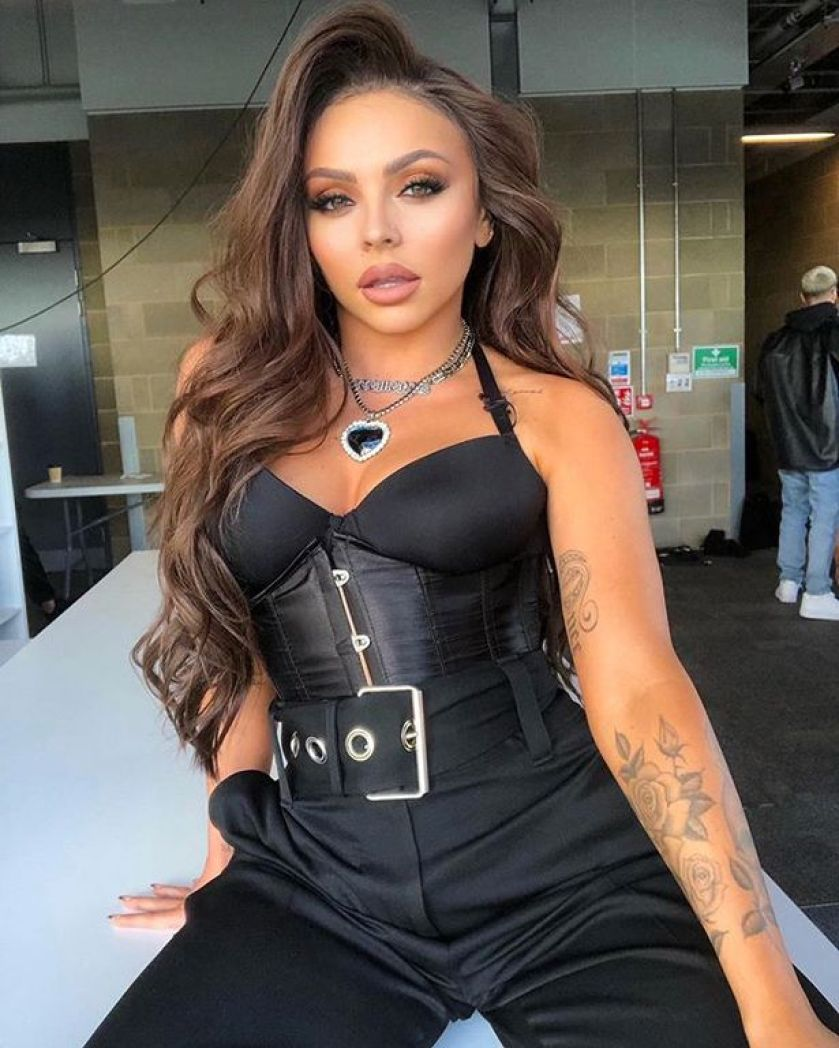 jesy nelson stuns little mix fans as she goes topless in bare-faced selfie