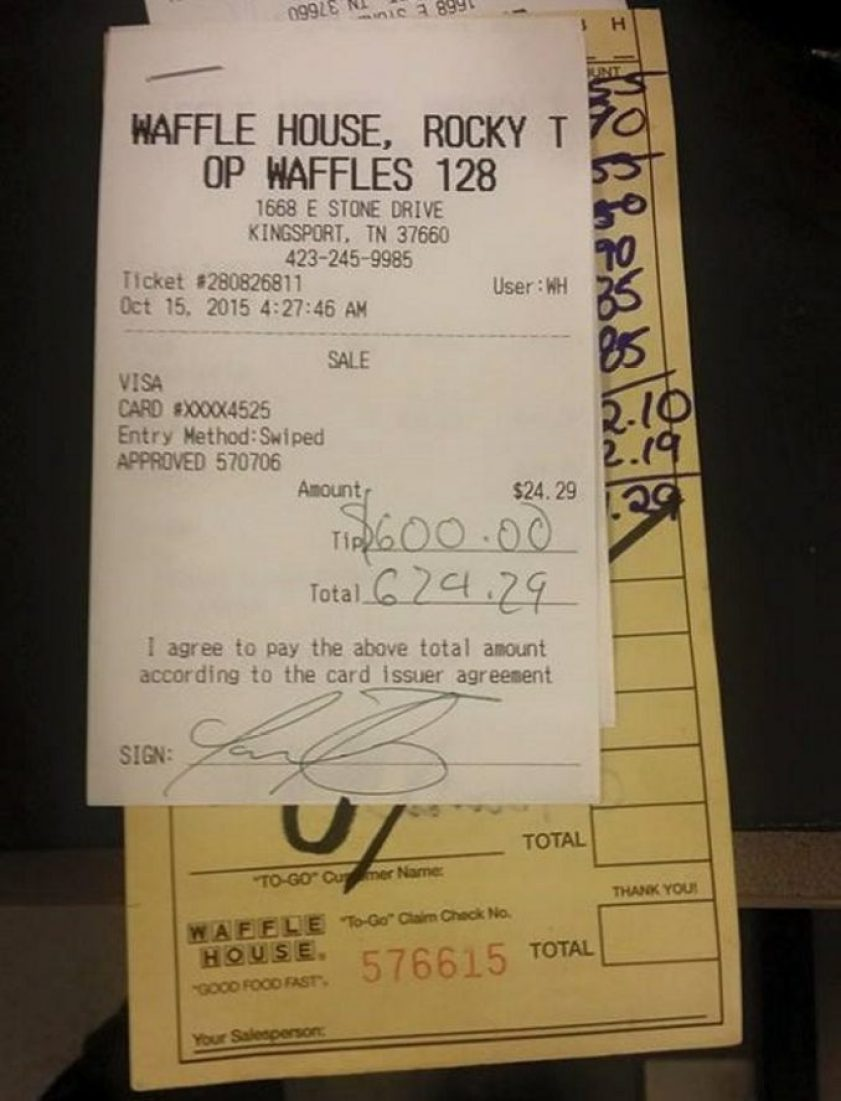 waffle house waitress needed extra cash, two young men offer help