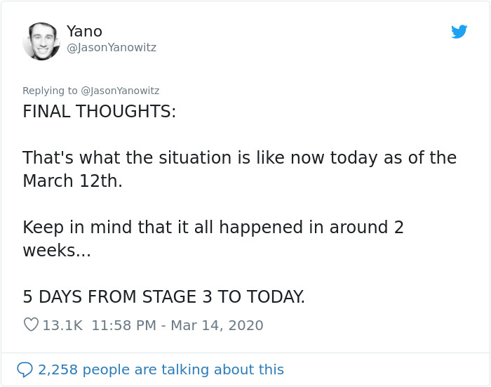 """""""to the rest of the world, you have no idea what's coming"""": man lists 6 stages italy has gone through"""