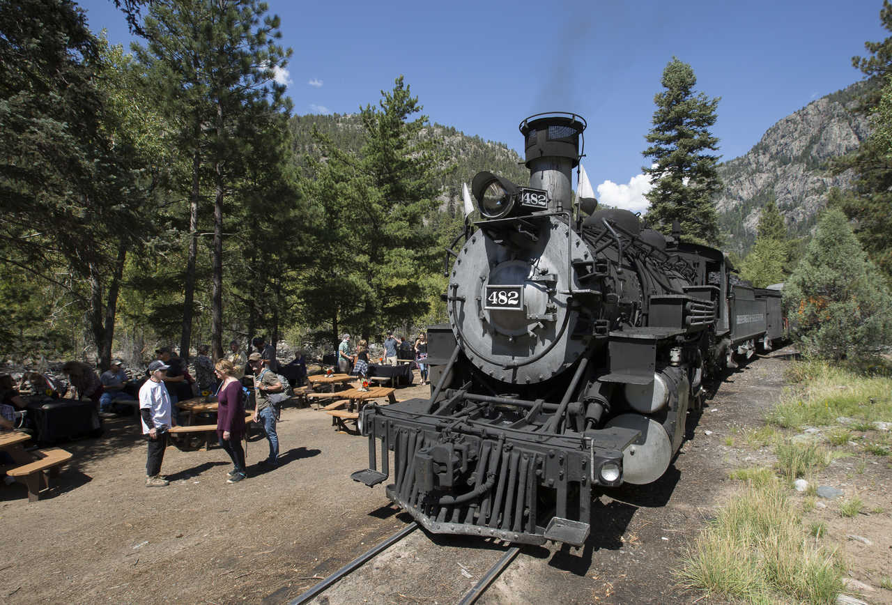 this 'beer train' takes you through the colorado mountains on a day-long beer adventure