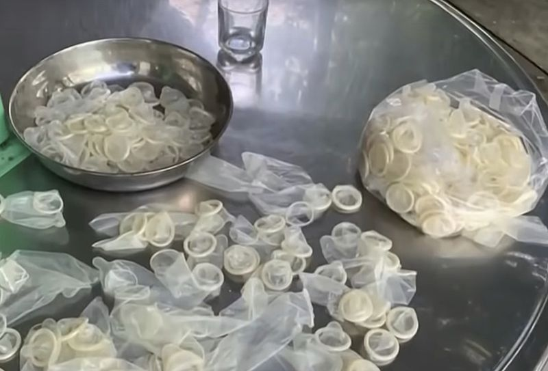 345,000 used condoms washed, dried & to be resold in southern vietnam, those involved arrested