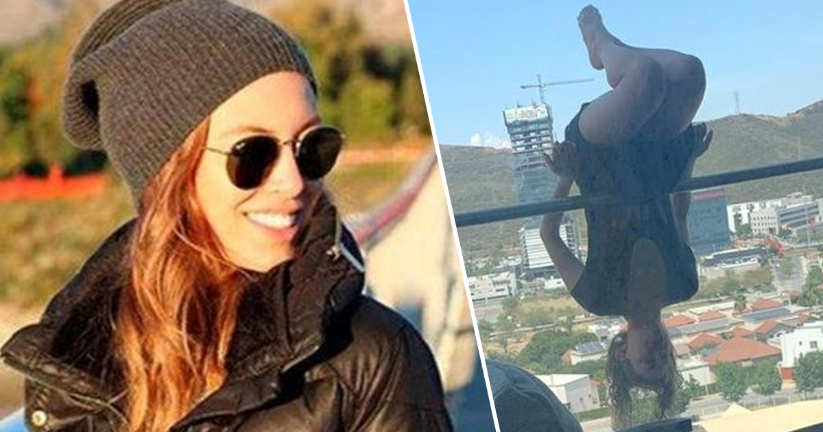 woman plummets from a balcony after attempting dangerous yoga pose