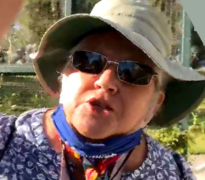 white woman unleashes racist tirade against asian woman for exercising at park