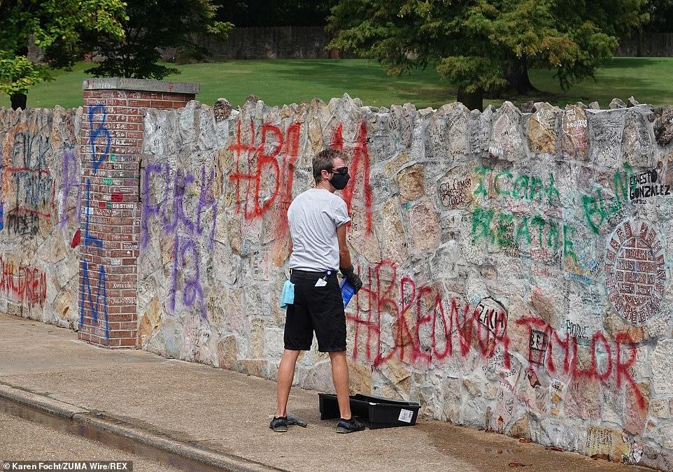 elvis presley's graceland vandalized with 'black lives matter' graffiti