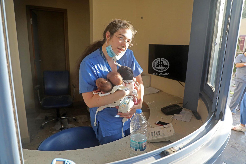 hero nurse saves three newborn babies as beirut blast rocks hospital