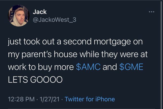 22-year-old legend dupes the media into publishing story about him mortgaging his parents' house to buy $70k gamestop stock