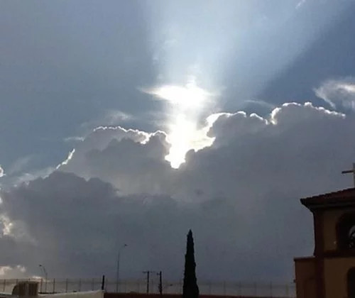 majestic clouds appear to reveal the face of jesus
