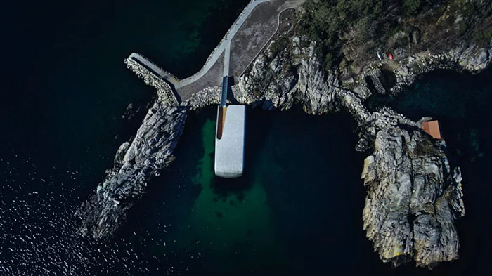 underwater restaurant has been completed in norway and it looks out of this world
