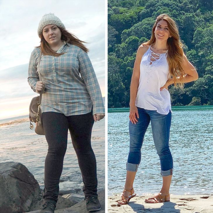 """20 photos that show us what """"huge transformations"""" look like"""