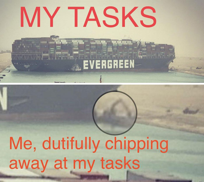 people are cracking up at these 30 memes about the ship stuck in the suez canal