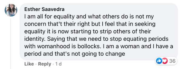 non-binary person says we should 'stop associating periods with womanhood'