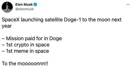 Spacex Accepts Dogecoin As Payment For Lunar Mission Next Year